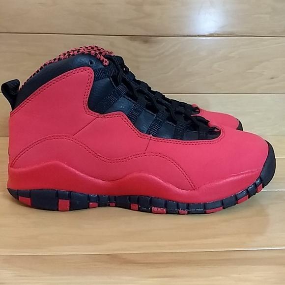 Girls Air Jordan 10 Retro GS Fusion Red 487211-605